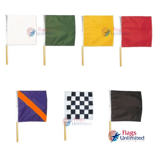 Official Auto Racing Set, 7 Flags With Poles by www.usflags.com