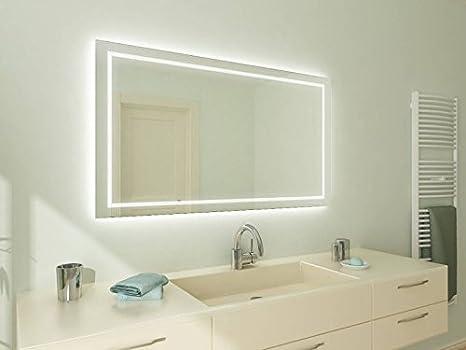 Bagno specchio con illuminazione aurora m l design specchio