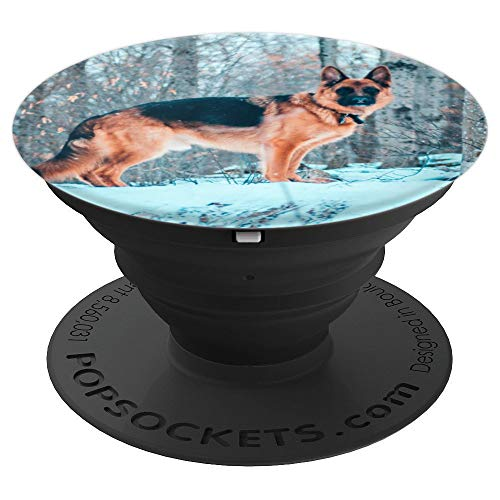 (German Shepherd Gifts Dog Lovers Mom Dad Cute Funny - PopSockets Grip and Stand for Phones and)