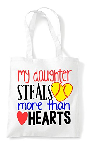 My Tote More White Heart Shopper Hearts Steals Bag Baseball Sports Daughter Than 8gwCrx8q