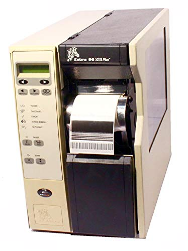 Zebra 96Xi-III Plus 096-741-00201 Thermal Barcode Label Printer Parallel USB Rewinder 600DPI