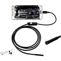 Rubik 7mm 5M OTG Micro USB Android Endoscope, IP67 Waterproof USB Borescope Inspection Camera with 6 adjustable LED and 5M Cable for Andorid Phone/PC