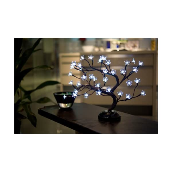 Lightshare New 16Inch 36LED Cherry Blossom Bonsai Light for Home Decoration,Battery Powered
