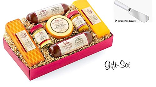 Hickory Farms Summer Sausage and Cheese Gift Box + D'oeuvres Knife