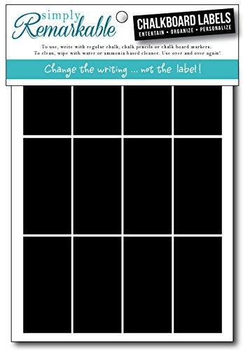 Simply Remarkable Reusable Chalk Labels - 40 Rectangle Shape 2