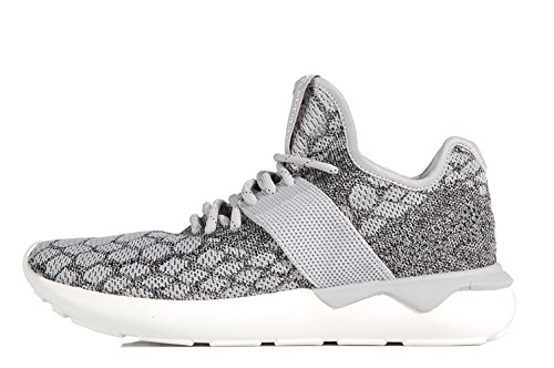 Adidas Originals Tubular Prime Knit Stone White B25573 - Scarpe running in maglia grigio bianco Stone
