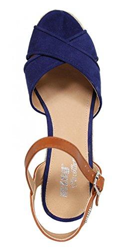Zapatos de cuña de Mujer MTNG 51847 TEKA MARINO