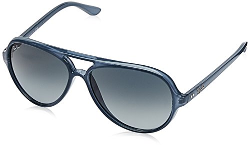 Ray-Ban Men's Cats 5000 Aviator Sunglasses, Trasparent Light Blue, 59 - Ray 5000 Ban Cats Sunglasses