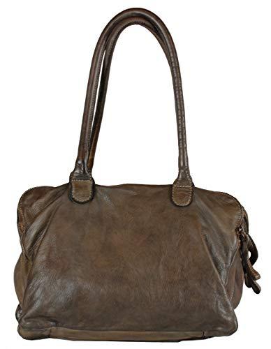 BZNA Bag Vanja Moro brun Italy Designer Messenger dam läderväska handväska axelväska väska läder Shopper ny