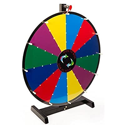 Displays2go Write-On with Dry Erase Illuminated Tabletop Prize Wheel, 24-Inch by George Patton Associates, Inc