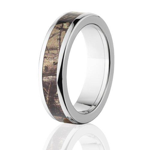 (RealTree Rings, Camouflage Wedding Bands, Titanium Ring, RealTree AP Camo Bands)