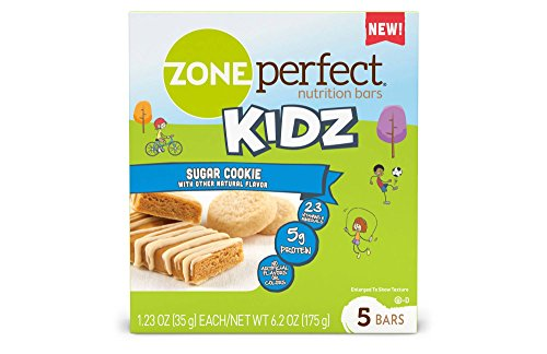 Zone Perfect Kidz Nutrition Bars, Sugar Cookie, 5 Count (Perfect Zone Sweet)