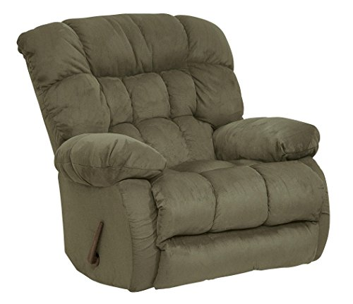 Catnapper Teddy Bear Swivel Glider Recliner - Sage (curbside delivery)