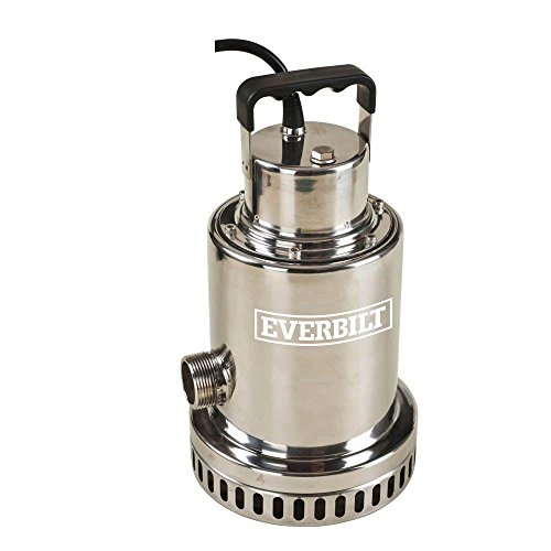 Everbilt 1/2 HP Stainless Steel Submersible Waterfall Utility Pump ()