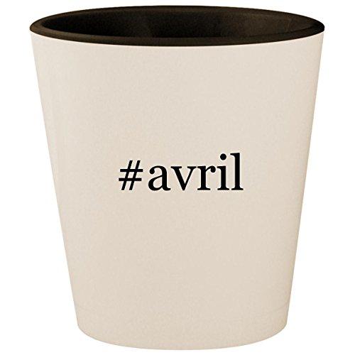 #avril - Hashtag White Outer & Black Inner Ceramic 1.5oz Shot Glass