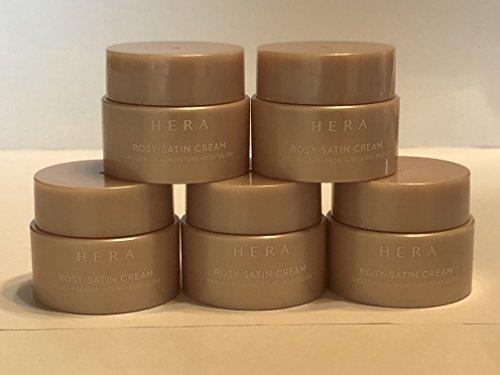 HERA New Rosy Satin Cream Trial Sets 5ml X 5pcs (25ml) Smooth Skin Moisture Rosy Glow