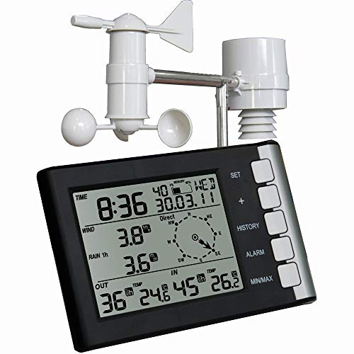 Julitech Wireless Weather Station and Sensor for Indoor/Outdoor Temperature, Humidity, Pressure, Sunrise and Sunset Times Uncategorized