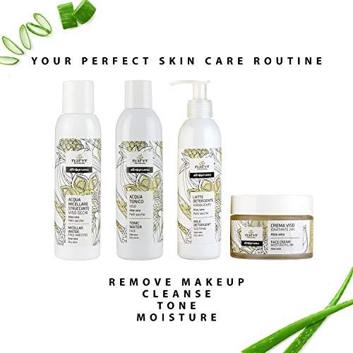 Natyr Gesichtscreme mit Aloe Vera gegen trockene Haut 50 ml - Tages- und Nachtcreme für 24 Stunden Feuchtigkeit mit angenehmem Duft