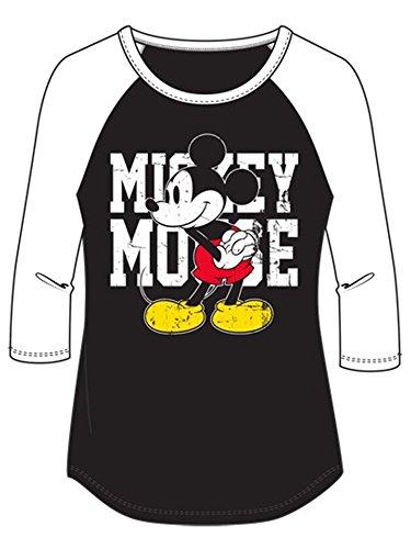 Disney Junior Mickey Mouse Name SJ Medium Fashion 3/4 Sleeve Top