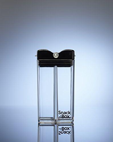 White Precidio Design 1901WHWH Snack in the Box UNIQUE a stylish and Eco-Friendly Reusable Snack Box Container