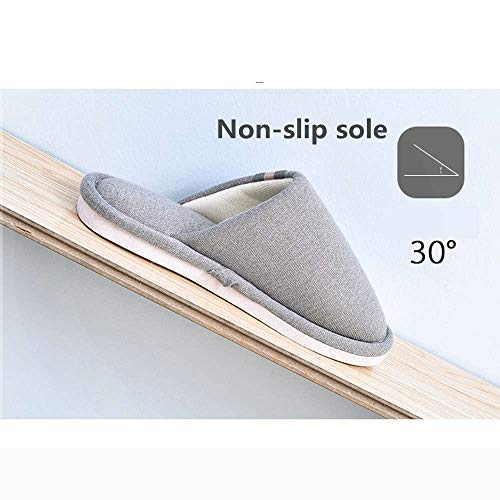 Shoes House Foam 4 Indoor Unisex Women Cozy Luobote Slides Slippers Memory Home Grey Warm Men PqxZ4U