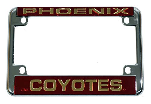 Rico Phoenix Coyotes Chrome Motorcycle License Plate Frame