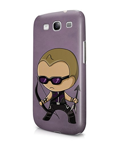 Chibi Hawkeye The Avengers Superhero Plastic Snap-On Case Cover Shell For Samsung Galaxy S3