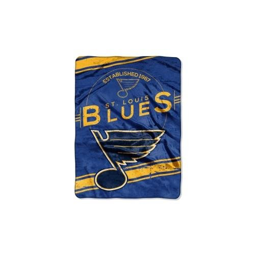Officially Licensed NHL St. Louis Blues Stamp Plush Raschel Throw Blanket, 60
