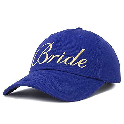 DALIX Bachelorette Party Hats Bride Squad Dad Caps Wedding Bridal Shower Royal -