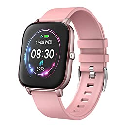 YoYoFit Newest 1.4″ Full Touch Screen Smart Watch Heart Rate Blood Pressure Sleep Monitor Fitness Activity Tracker Watch, Waterproof Fitness Smartwatch Compatible with iOS Android for Women Men