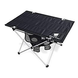 GEERTOP Folding Table with Cup Holders Ultralight Portable Camp Table for Outdoor Camping Beach Travel – Easy to Carry