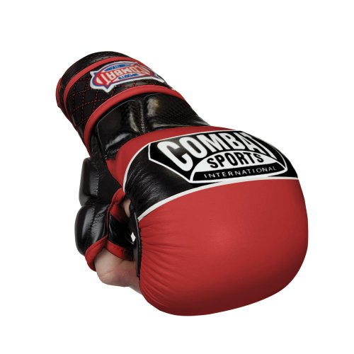 Combat Sports Max Strike MMA Training Gloves (Red, Regular)