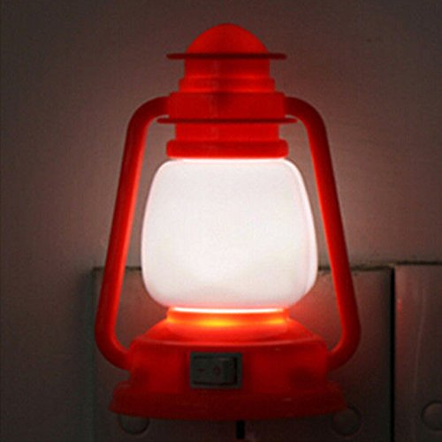 Zehui LED Night Night Light Color Changing Decoration Vintage Lamp Lantern Orange