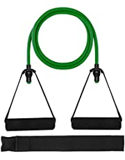 HaroFit Single Resistance Bands with Handles - Exercise Bands Workout Bands Weight Bands for Physical Therapy, Resistance Training, Home Workouts, Door Anchor and Workout Guide Included