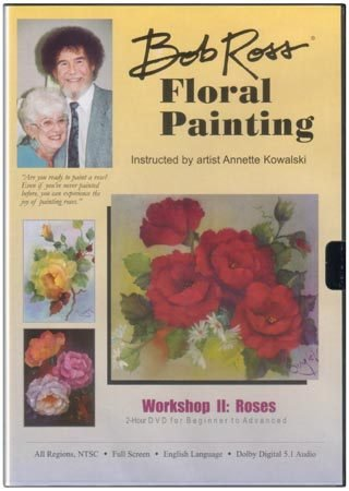 Weber Bob Ross Floral Painting: Roses DVD (Paintings Floral Artists)