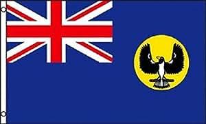 3x 5bandera de Australia del Sur Australia Estado Banner Pennant colores vivos y ultravioleta resistente a la decoloración–cabecera y doble costura poliéster materia
