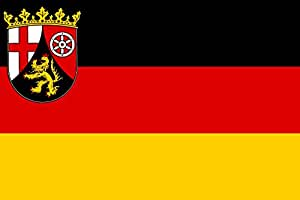 magFlags XXXL Flag Rhineland-Palatinate | landscape flag | 6m² | 64sqft | 200x300cm | 6x10ft - 100% Made in Germany - long lasting outdoor flag