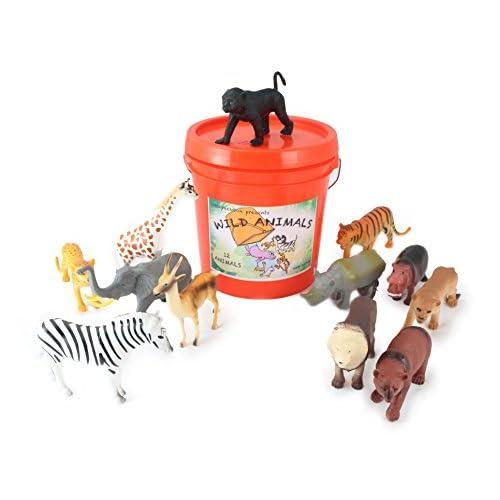 85 Off Wellpackbox Big Orange Bucket Wild Animal Zoo Bucket 12 Large