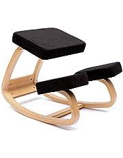 JZGORC Ergonomisk knästol – bättre hållning knästol – större säte, knäkuddar – robust och bekväm – ortopedisk pall (svart)