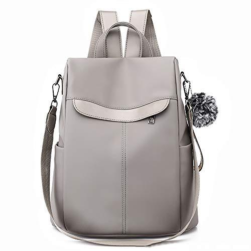 scuola a Donna impermeabile Borsa nero Backpack Donna Casual Borsa Canvas antifurto a Altinovo Moda grigio La tracolla mano EqwSCOXXx