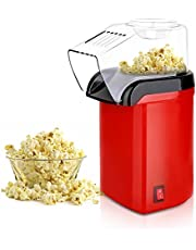 Hot Air Popcorn Popper Maker, Mini Popcorn Machine with Measuring Cup and Removable Lid No Oil Needed for Home Family Movie TV, Party Air Popcorn Popper