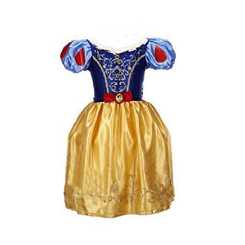 SW1 Snow White Princess Dress Kids Girl Halloween Costume 3T-12 USA (3T-4 -