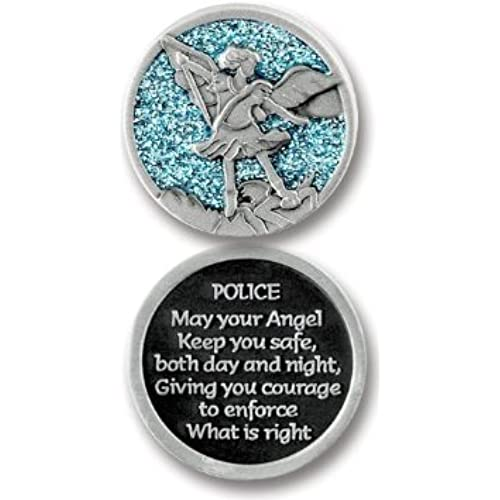 guardian angel pocket token for police officer man woman 125 metal coin inspirational gift protect you are special