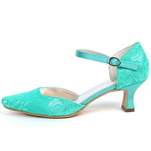 Seda SatéN Zapatos De Altos del 5cm Redondo Flores Boda White L CordóN Mujeres De A Mano Pie del Hecho De del Tacones 5 Dedo Las YC RWF5wqB5SH