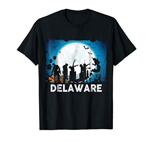 Delaware Halloween Black Ghost Shirt Delaware Ghost Shirt -