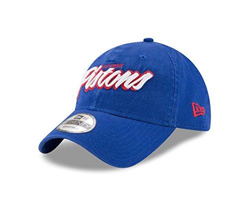 NBA Detroit Pistons Adult Core Script 9TWENTY Adjustable Cap, One Size, Royal
