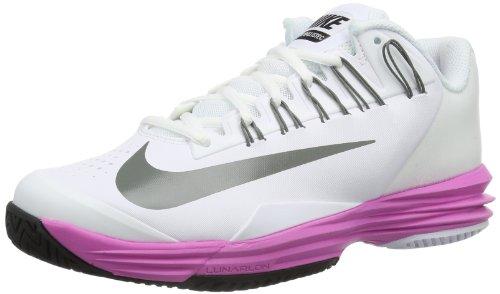 Nike Lunar Ballistec - Zapatillas Mujer Blanco (Weiß (White/Md Base Grey-Red Volt-Metallic Silver))