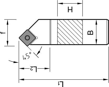 1 St/ück ISO Fasen Klemmhalter 45/° 16x16 SSSCR 1616 H09 Drehstahl Rechts f/ür Wendeplatten SCGT//SCMT 09T3.