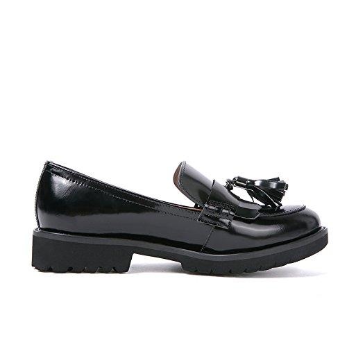Plataforma Negro Gianni amp; Cuña Darco De Mocasines Zapatos Planos Borlas Tacón Cueros Mujer q8RwXKwp