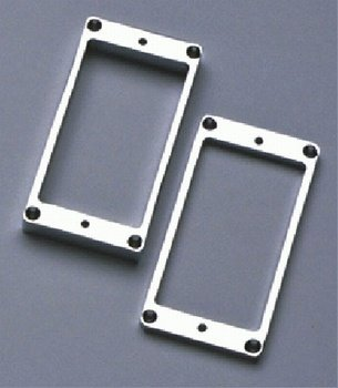 Allparts PC-0438-010 Metal Humbucking Ring Set Curved Chrome